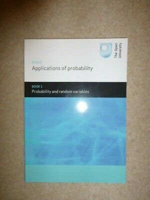£12 • Buy M343 Applications Of Probability Book 1 (Open University)