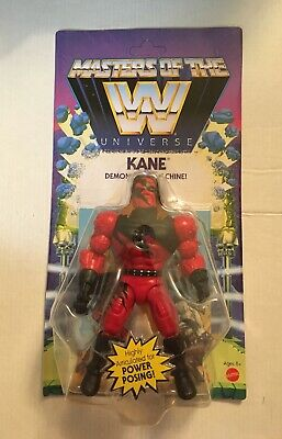 """$33.88 • Buy 2021 Masters Of The WWE Universe Kane MOTU 5.5"""" Figure NEW MOC Wave 6 In Hand"""