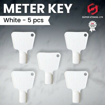 £2.99 • Buy 5x Utility Meter Box Key Service Boxes Gas Electric Cupboard Cabinet Triangle