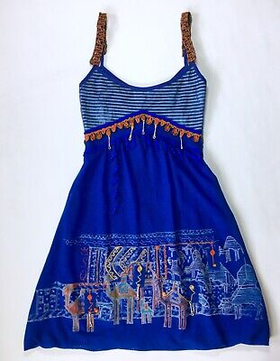 AU163.86 • Buy NWOT Save The Queen Dress Moroccan Marrakech Print Embroidery Charms Mesh New S