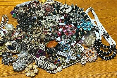$ CDN26.99 • Buy Over 5lbs Jewelry CRAFT & Some Wearable Lot's Of RHINESTONES Vintage To Now  #25