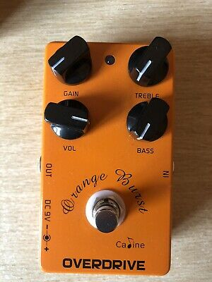Caline CP-18 Orange Burst Overdrive Effects Pedal (Based On Xotic BB Preamp) • 14£