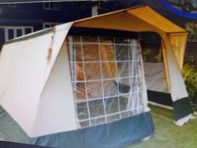 Cabanon 6 Person Emilie Metal Framed Tent Cream And Green With Red Trimmings • 0.99£