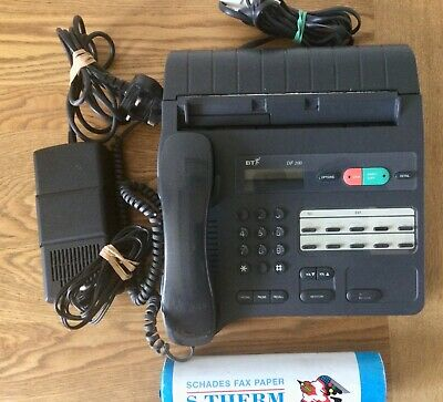 BT DF100 Phone Fax Machine Power & Phone Cables, Fax Roll. Great Condition • 10.50£