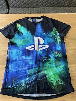 Boys Childs Next Playstation T-Shirt Blue Logo Age 16 Years • 1.20£