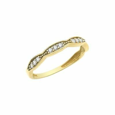 AU203.33 • Buy 9ct Yellow Gold Cubic Zirconia Half Eternity Ring Sizes L-Q Contact Us Before