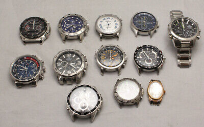 12 Watch Heads For Spares Or Repair, 3 Seiko, 3 Citizens Plus Others • 26£