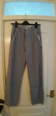 Bon Chef Navy Checked Trousers Size 28 Waist • 4.50£