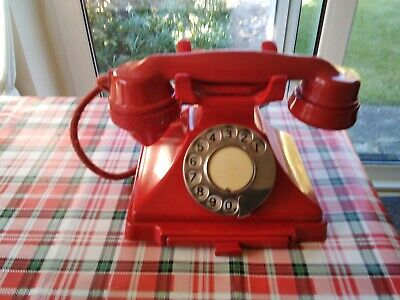 Vintage 1930s GPO RED Telephone. Ultra Rare . Original Red Flex.converted. • 0.99£