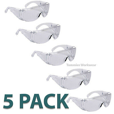 £13.29 • Buy 5 X Pack Safety Glasses Anti Scratch Coating UV Protection Side Shields PPE Spec