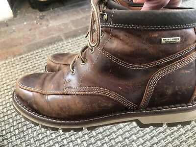 Boots Mens Century Panel Rockport 8.5 Brown Leather EUC • 42.78£