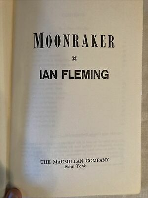 $20.95 • Buy MOONRAKER Ian Fleming James Bond Novel 007 1955 Hardcover
