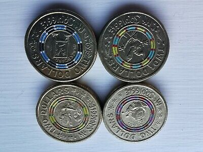 AU15.85 • Buy 5x Sets Available 4x Coins In Each Set Mr Squiggle 2 Dollar Coin Set 2016