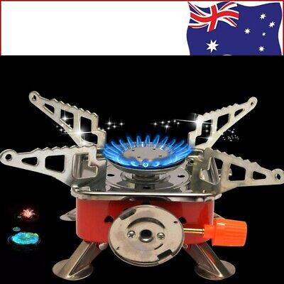 AU20.19 • Buy Mini Camping Stove Outdoor Picnic Gas Burner Portable Hiking Cooker Outdoor BBQ