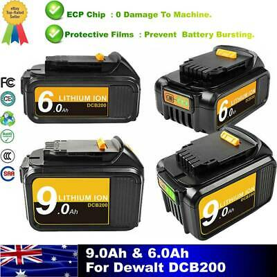 AU34.99 • Buy For DEWALT 18V 9AH 6AH  XR DCB184 DCB184-XE LI-Ion Slide BATTERY DCB182 DCB200