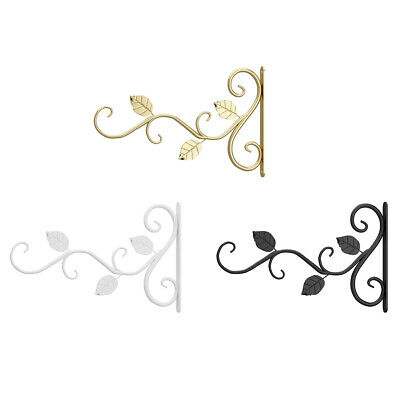 £5.49 • Buy Wall Mounted Flower Pot Rack Hook Decorative Plant Bracket Hanger Iron Cast