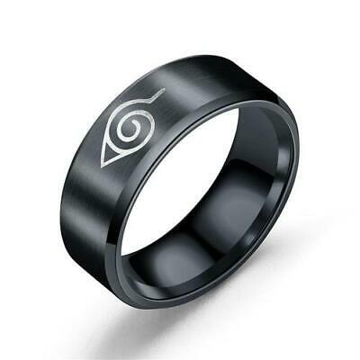 £4.99 • Buy Size 8/11 Black Metal For Naruto Cosplay Toy Ring Gift Fashion #N12