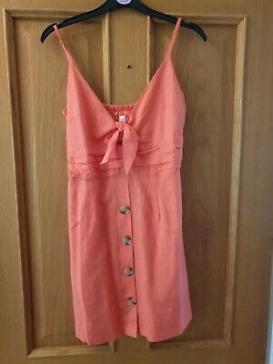 River Island Summer Dress New Small Coral • 9.99£
