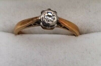 £90 • Buy Vintage 18ct Gold Diamond Solitaire Ring