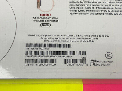 $ CDN439.36 • Buy SEALED Apple Watch Series 5 40mm Gold Aluminum Pink Sand GPS+Cellular MWWP2LL/A