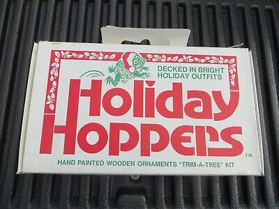 $ CDN48.31 • Buy 24 Vintage MCM Christmas Ornaments Hand Painted Jasco Holiday Hoppers Frogs