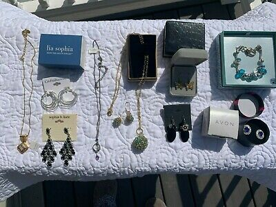 $ CDN35.09 • Buy Lot Of Lia Sophia Necklaces (2) / Avon Earrings / Sophia & Kate Earrings / Misc