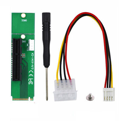 $7.59 • Buy PCI-E 4X Female To NGFF M.2 M Key Male Adapter Converter Card Power Cable Cord