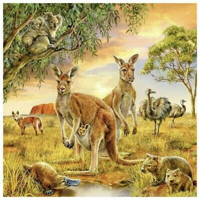 AU15.96 • Buy 5D Full Drill Diamond Painting Decor Kangaroo Embroidery Cross Stitch Kit