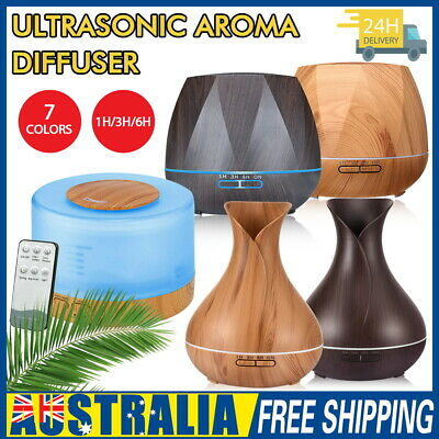 AU21.99 • Buy 160-550ML Aroma Aromatherapy Diffuser LED Oil Ultrasonic Air Humidifier Purifier