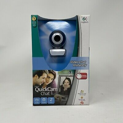 Logitech Quickcam Video Chat Web Cam Skype Headset Included - NEW • 12.96£