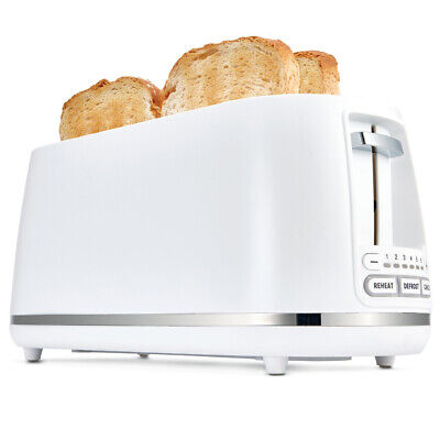 AU46.82 • Buy Anko 4 Slice Electric Toaster 1500W Long Slot White Defrost Reheat Cancel Button