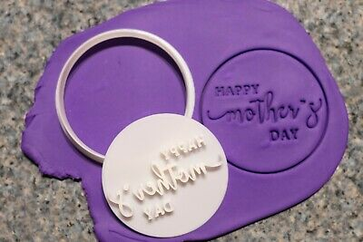 AU8.95 • Buy Happy Mother's Day, Mother's Day Cookie, Fondant Cutter And Embosser, 3D Printed