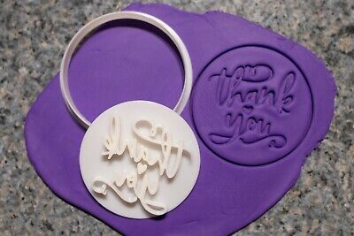 AU8.95 • Buy Thank You Cookie, Fondant Cutter And Embosser, 3D Printed