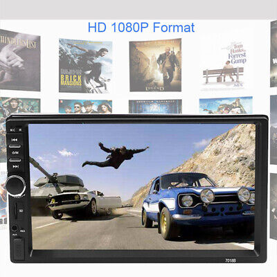 $85 • Buy 7  Touch Screen Bluetooth Car Stereo Radio 2 DIN Video Player Mirror Link Unit