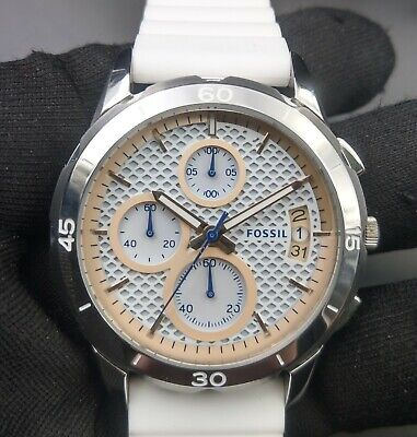 $ CDN43.74 • Buy New Old Stock - FOSSIL ES4024 - Chronograph White Silicone Women Watch