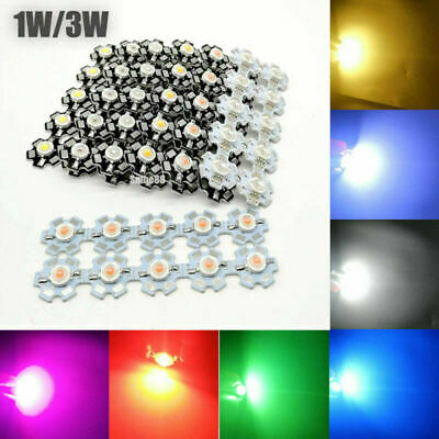AU3.74 • Buy 1W 3W 5W Watt High Power LED SMD Chip UV White Blue Deep Red RGB Beads With PCB