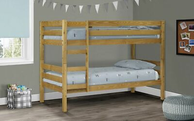 £284.99 • Buy Wyoming Bunk Bed Solid Pine Childrens Beds Julian Bowen Low Sheen Lacquer Finish