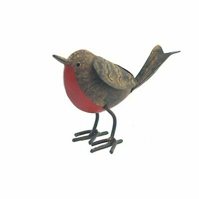 £5.99 • Buy Tin Robin -  Decorative Garden Outdoor Metal Bird Ornaments - Ascalon