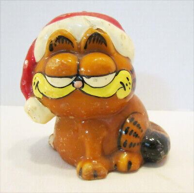GARFIELD WEARING SANTA HAT 1980's FIGURAL CHRISTMAS CANDLE JIM DAVIS CAT~ AS-IS  • 3.62£