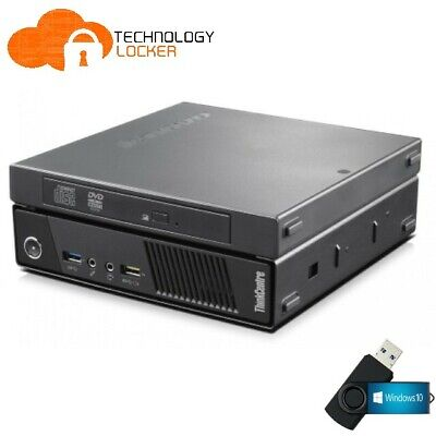 AU233.75 • Buy Lenovo ThinkCentre M73 Tiny PC Intel I5-4570T 8 RAM 120GB SSD Wins 10 DVD-RW