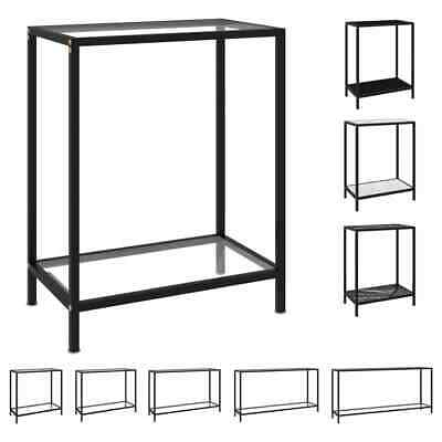 £39.99 • Buy VidaXL Console Table Tempered Glass Hall End Table Multi Colours Multi Sizes