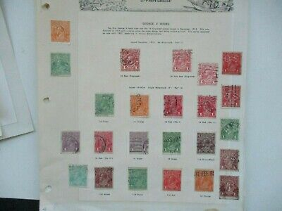 AU3.55 • Buy Pre Decimal Stamps: KGV Selection On Page Used   -  RARE  (t1558)