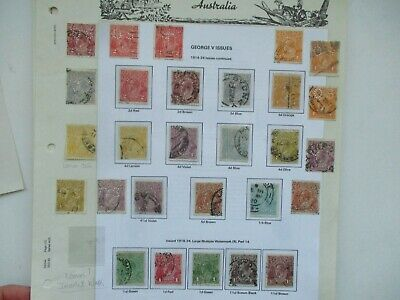 AU3.85 • Buy Pre Decimal Stamps: KGV Selection On Page Used   -  RARE  (t1559)