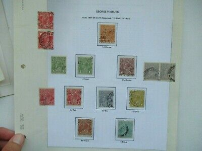 AU2.95 • Buy Pre Decimal Stamps: KGV Selection On Page Used   -  RARE  (t1562)