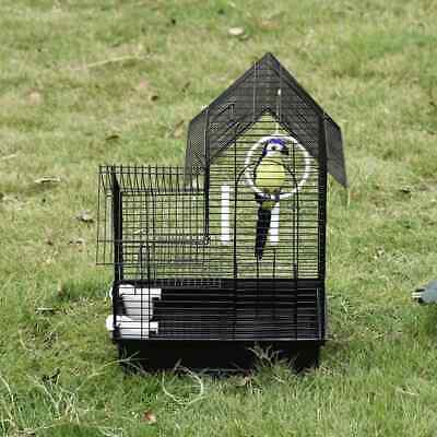 Small Pet House W/ Perches And Removable Tray Table Top Metal Bird Cage W/ Stand • 57.99£