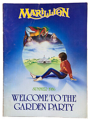 £15 • Buy Vintage Tour Programme. Marillion. Welcome To The Garden Party Summer 1986.