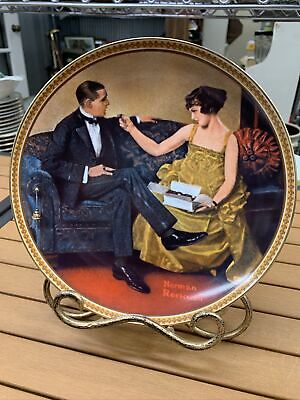 $ CDN14.98 • Buy Norman Rockwell Collectors Plates Rediscovered Women  Flirting In The Parlor