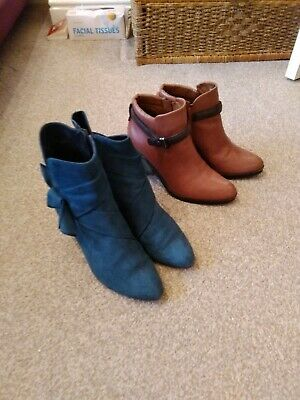 Ankle Boots Wide Fit Size 6 Audley Spain/M&S Collection Bundle • 10£