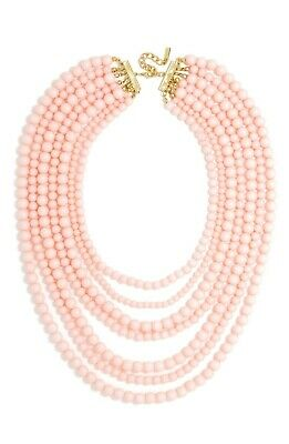 $ CDN1.24 • Buy BaubleBar Bold Beaded Multi-Strand Peach Necklace QVC