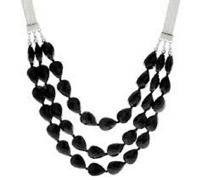$ CDN1.24 • Buy QVC BaubleBar Crystal Beaded Layered Necklace